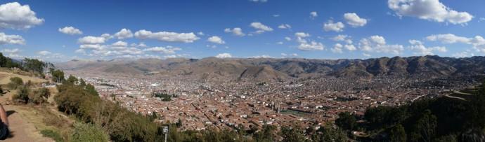 Panorama von Cusco (Peru, ca. 3400 m)